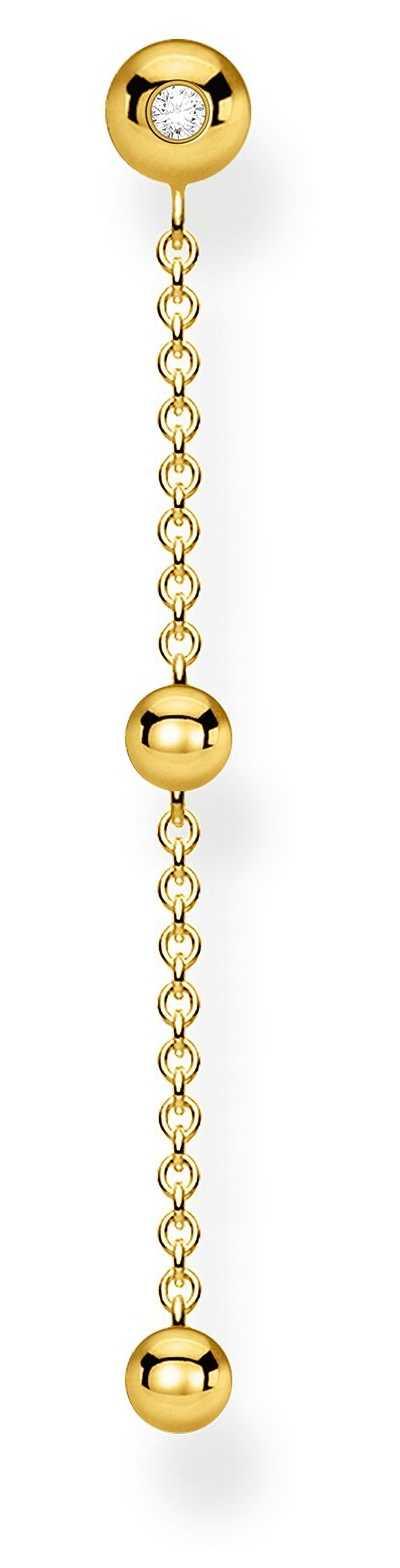 Thomas Sabo 18k Yellow Gold Single Drop Earring | White Stones H2149-414-14