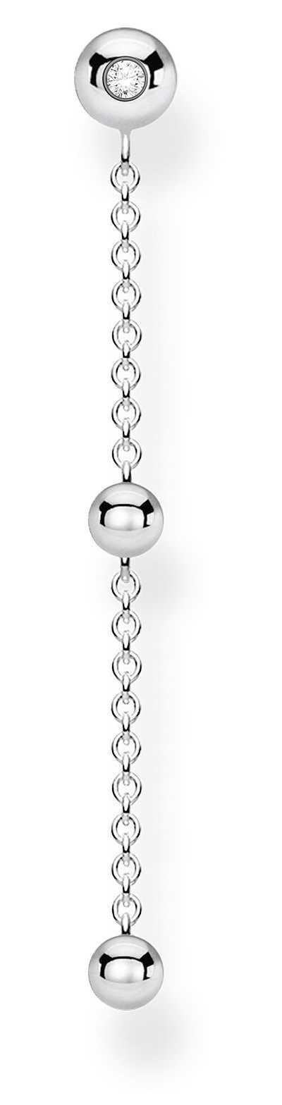 Thomas Sabo Silver Single Stud Drop Earring | White Stones H2149-051-14