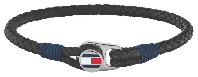 Tommy Hilfiger | Men's Casual | Black Leather Bracelet | 2790205S