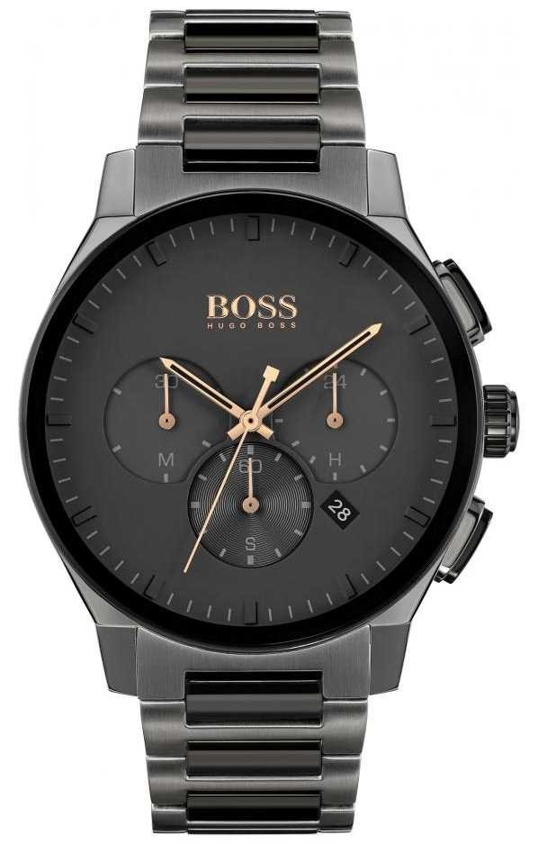 BOSS Men's Peak | Grey Stainless Steel IP Bracelet | Grey Dial 1513814