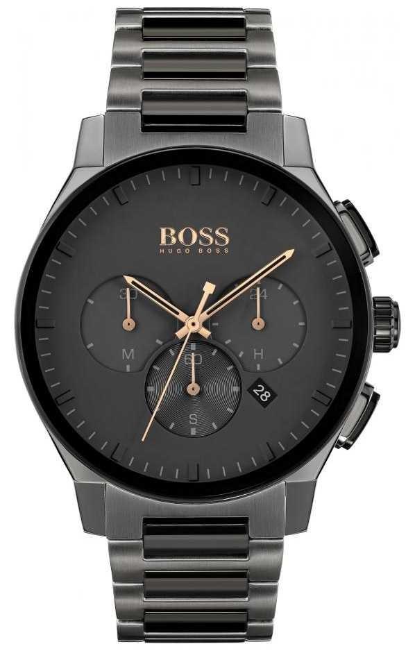 BOSS Men's Peak   Grey Stainless Steel IP Bracelet   Grey Dial 1513814