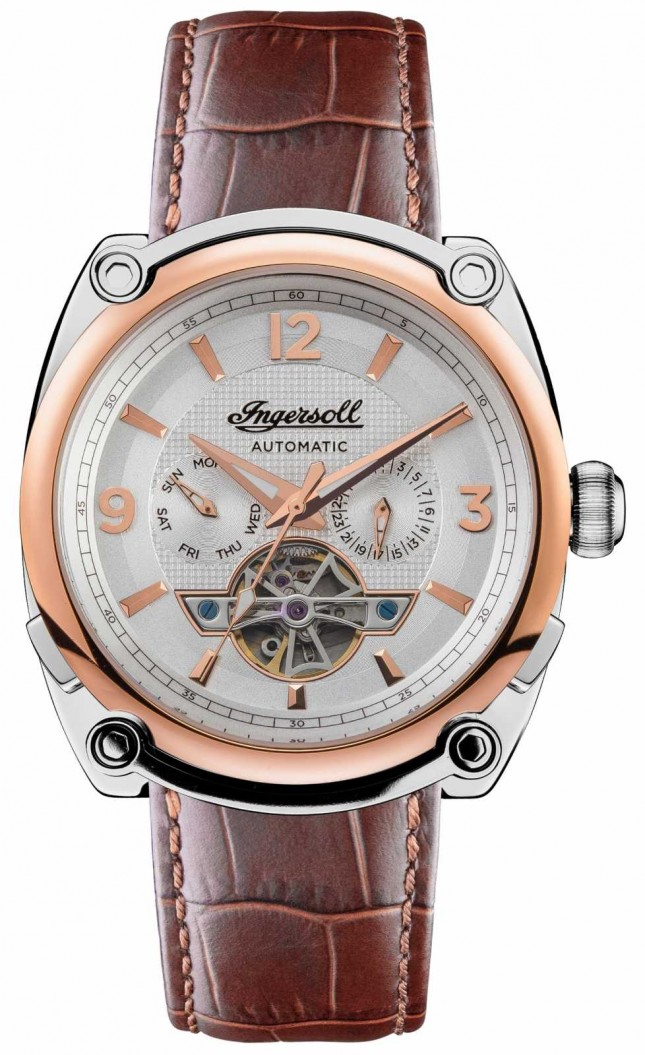 Ingersoll The Michigan | Men's | Brown Leather Strap | White Dial I01103B