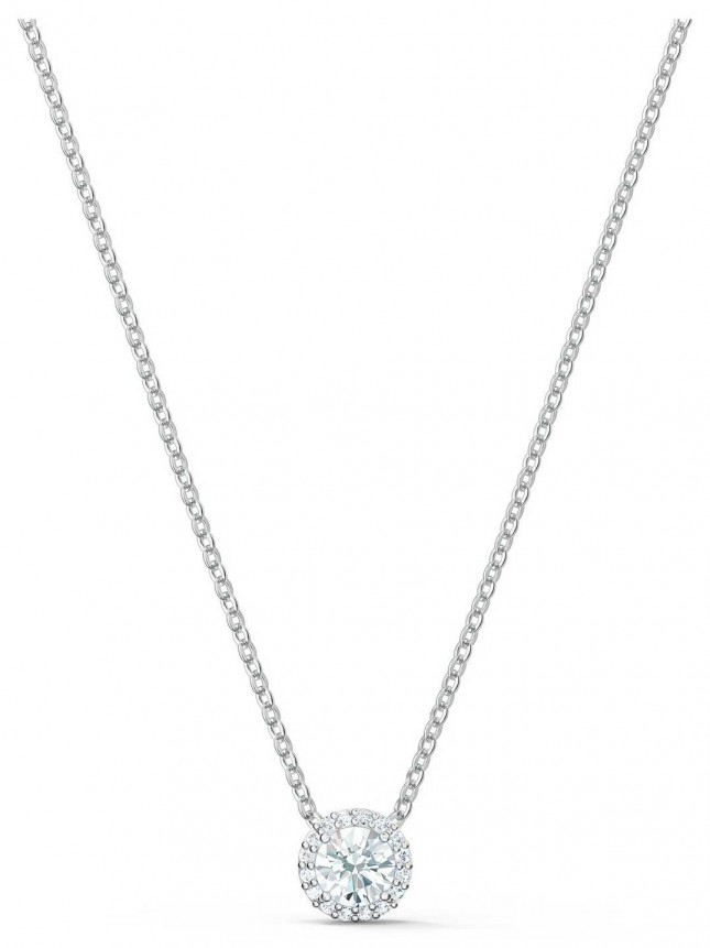 Swarovski Angelic   Rhodium Plated   Pendant Necklace   White 5567931