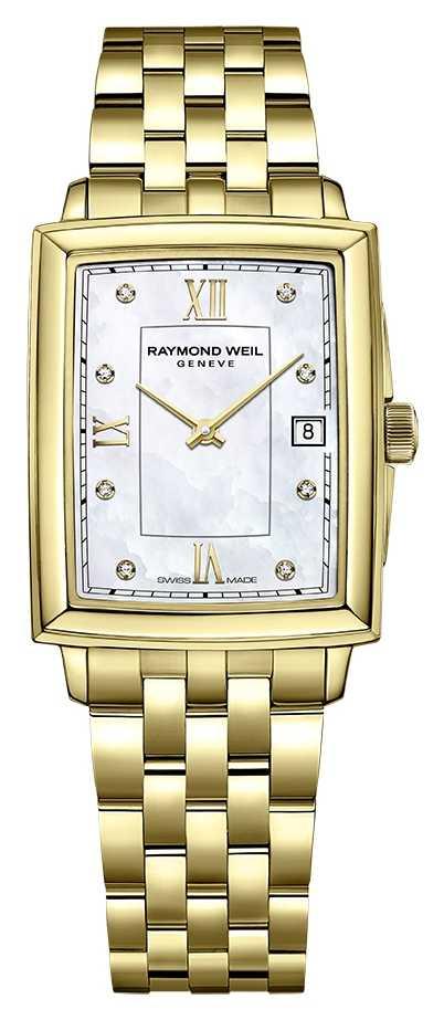 Raymond Weil Women's Toccata | Gold PVD Plated Bracelet |Diamond Set Dial 5925-P-00995