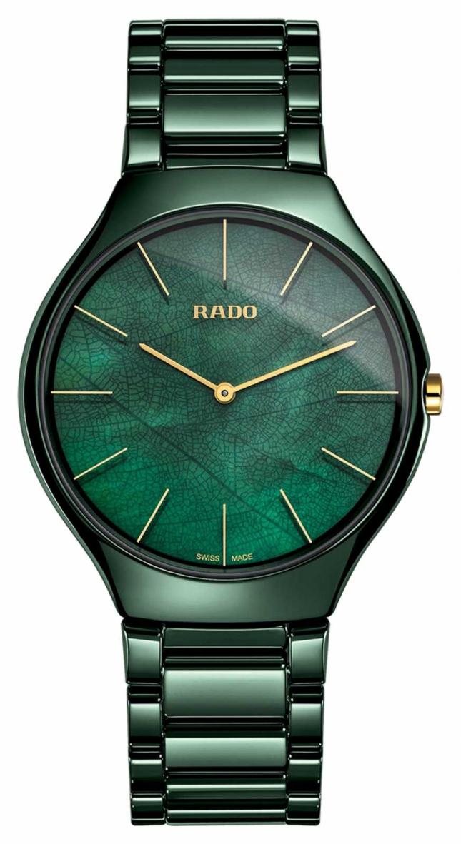 RADO Womens  True Thinline   Green Ceramic R27006912