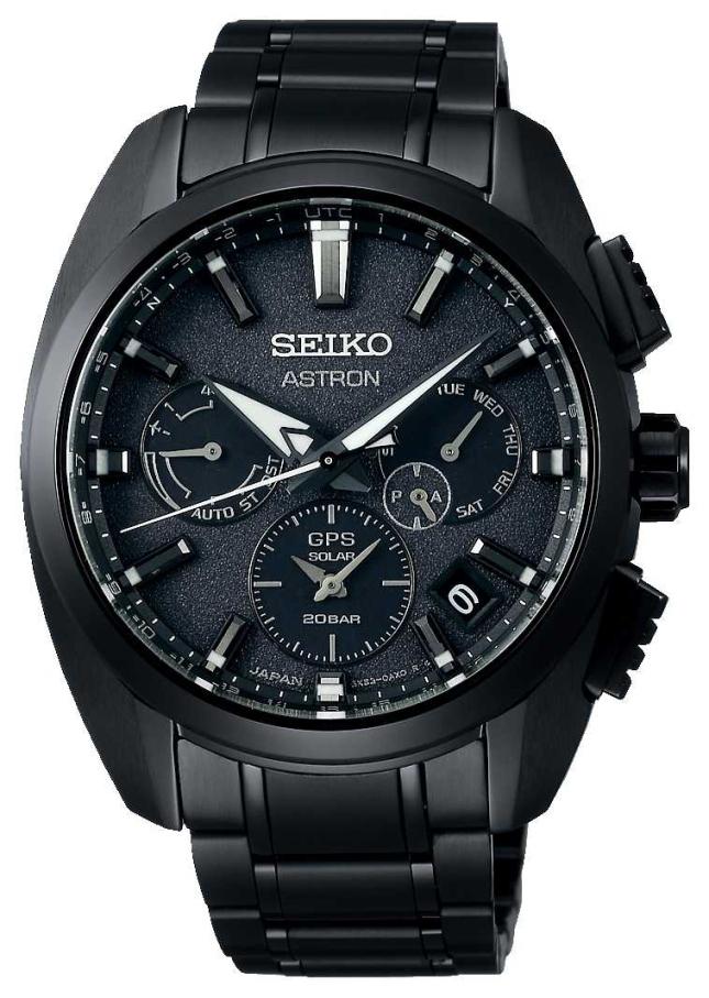 Seiko Astron | Black dial | Black Titanium | GPS | Chronograph SSH069J1