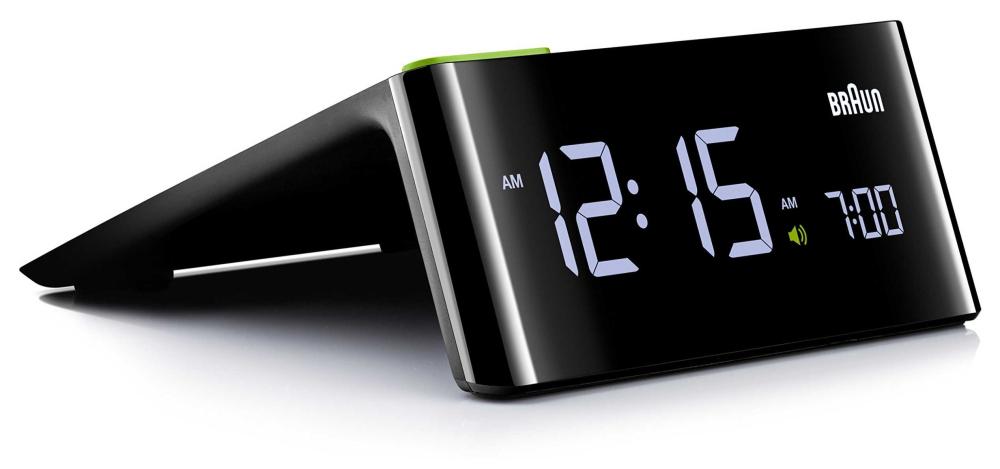 Braun Digital Bedside Alarm Clock   LCD Display BNC016BKUK