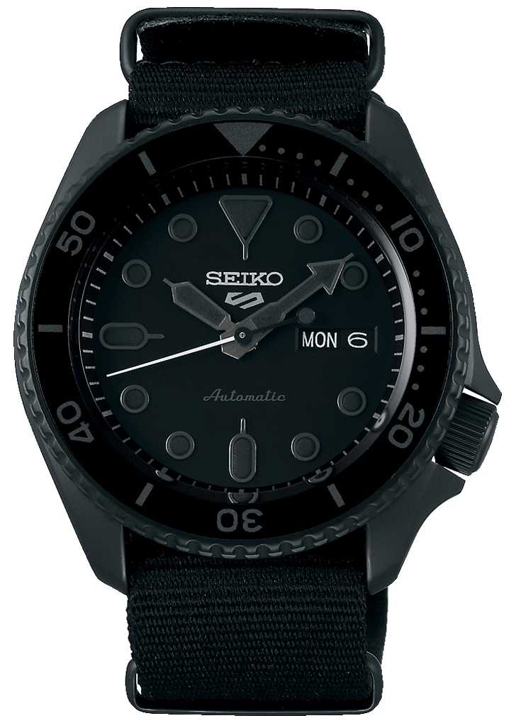 Seiko 5 Sport   Street   Automatic   Black Dial   Black NATO SRPD79K1