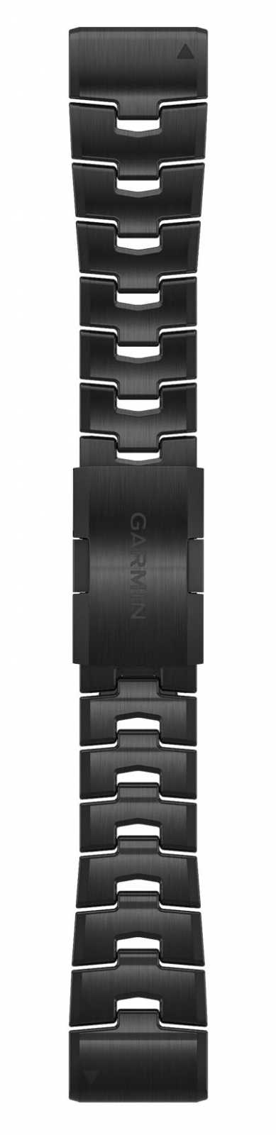 Garmin QuickFit 26 Watch Strap Only, Vented Titanium Bracelet With Carbon Grey DLC Coating 010-12864-09