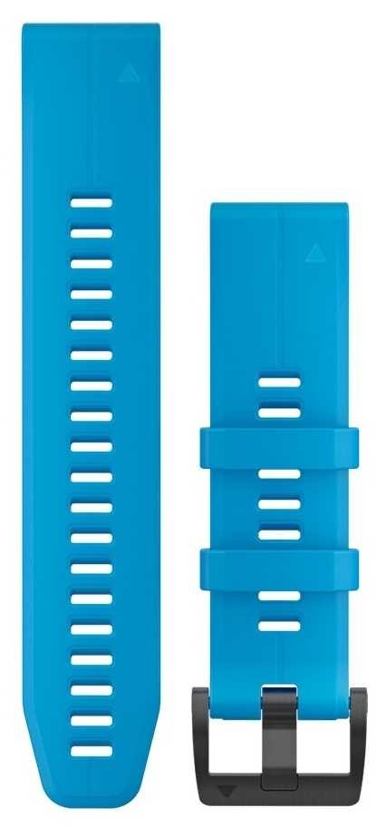 Garmin Cyan Blue Rubber Strap Only QuickFit 22mm 010-12740-03