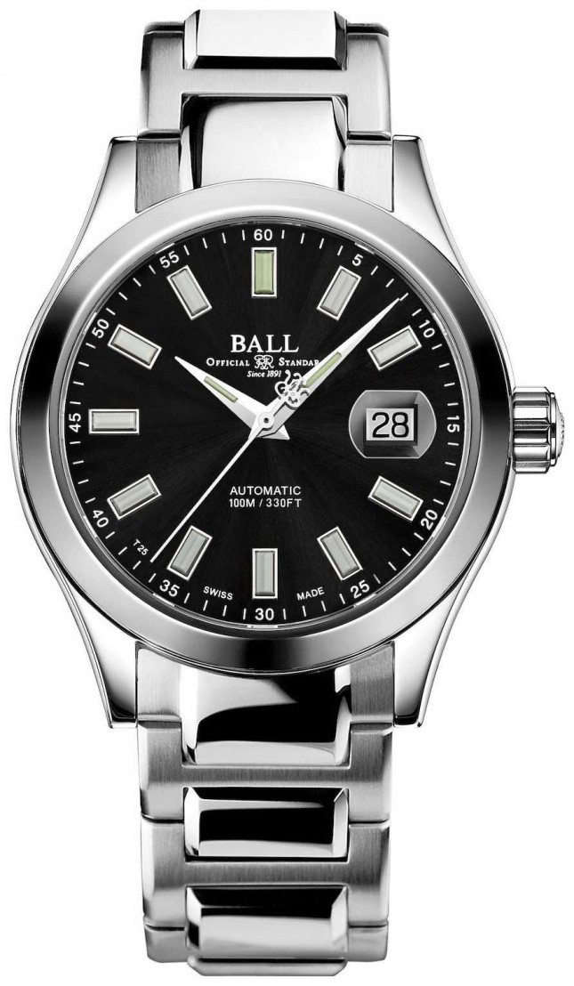 Ball Watch Company Mens | Engineer III | Marvelight | Stainless-steel |Black Dial NM2026C-S23J-BK