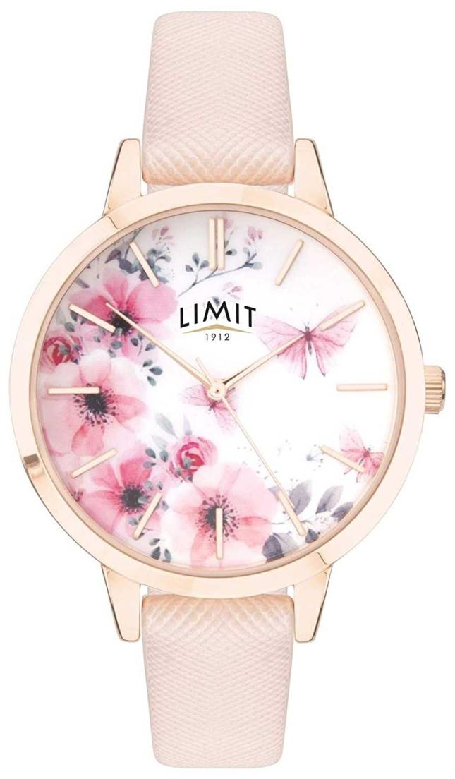 Limit | Womens Secret Garden | Pink&White Floral Dial | Pink Strp 60023