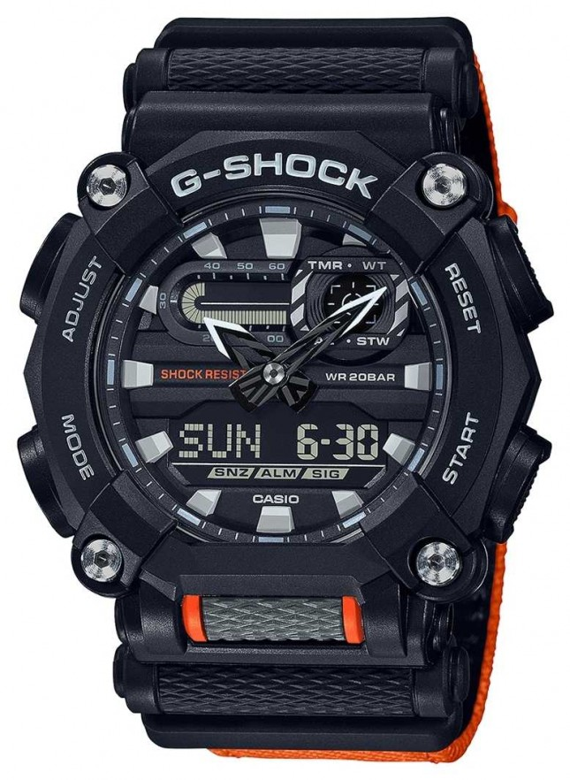 Casio G-SHOCK   Heavy Duty   World Time   Orange GA-900C-1A4ER