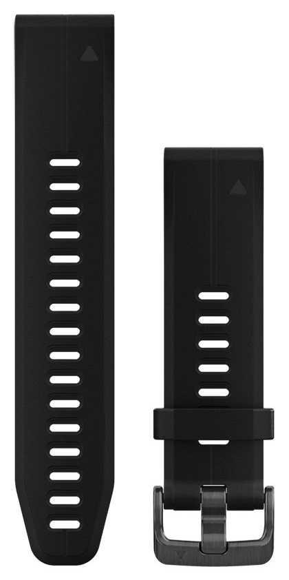 Garmin Black Rubber Strap Only QuickFit 20mm 010-12739-00