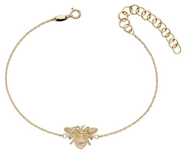 Elements Gold 9ct Yellow Gold Bee Bracelet (17-20cm) GB481