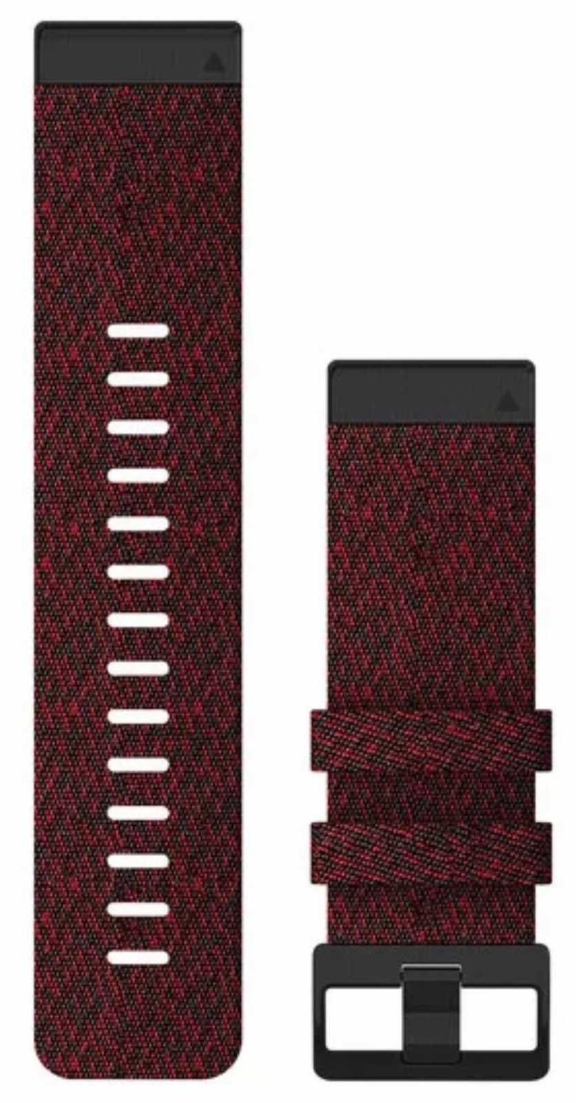 Garmin QuickFit 26 Watch Strap Only, Heathered Red Nylon 010-12864-06