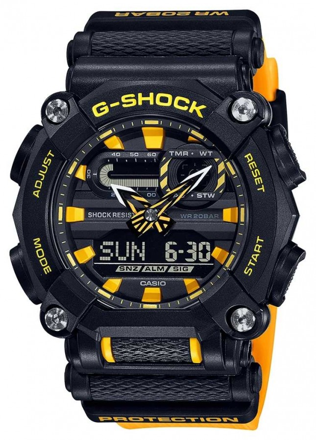 Casio G-SHOCK | Heavy Duty | World Time | Yellow GA-900A-1A9ER