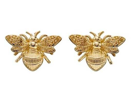 Elements Gold 9ct Yellow Gold Bee Stud Earrings GE2322