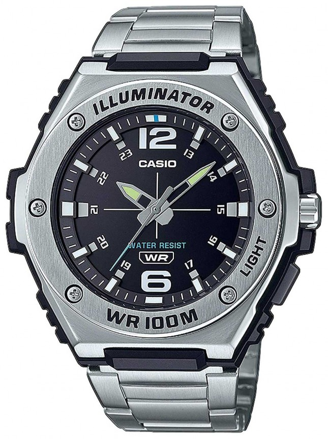 Casio Illuminator | Black Dial | Stainless Steel | MWA-100HD-1AVEF
