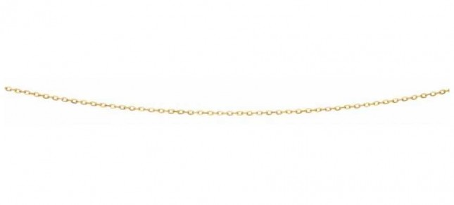 Elements Gold 9ct Yellow Gold  Flattened Cable Chain 18″ GN277