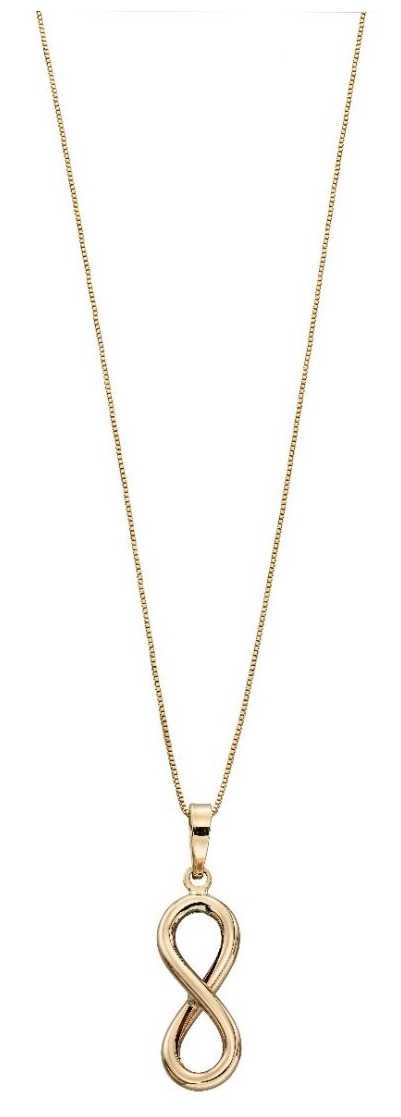 Elements Gold 9ct Yellow Gold Infinity Pendant GP2109