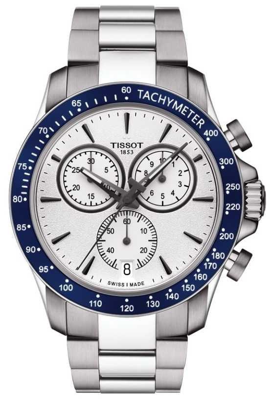 Tissot Mens V8 Quartz Chronograph White Dial Stainless Steel T1064171103100