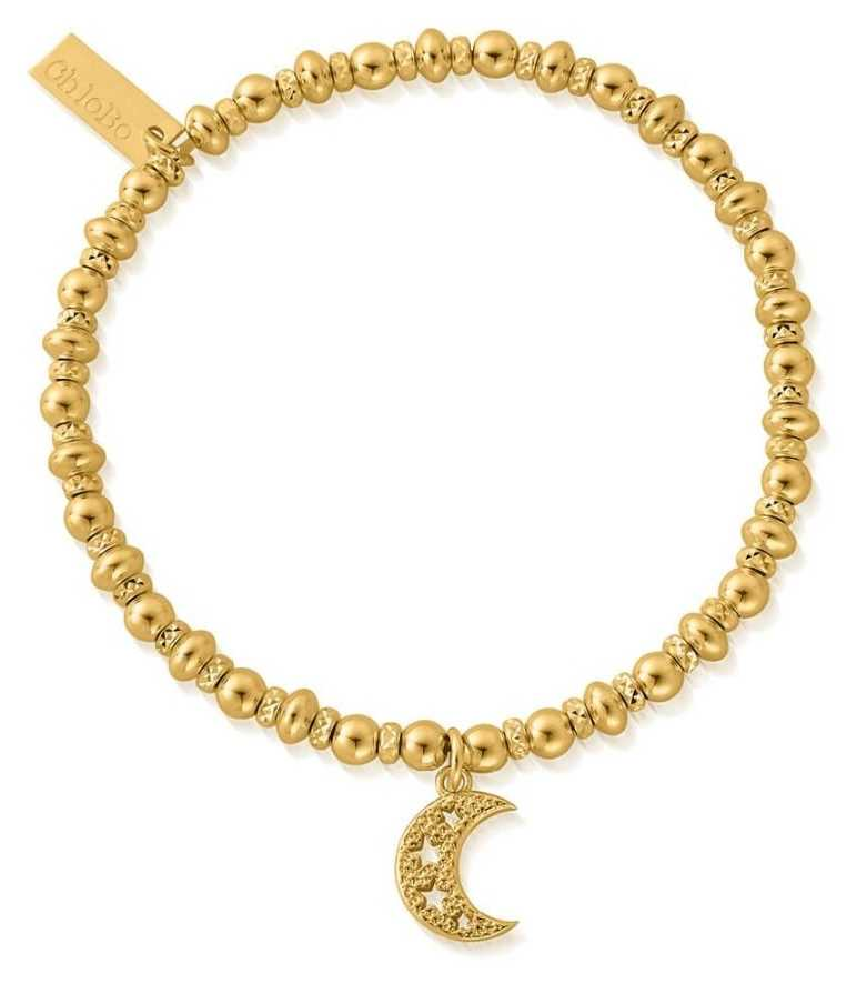 ChloBo Didi Sparkle Starry Moon Bracelet   18ct Gold Plated GBDS3087