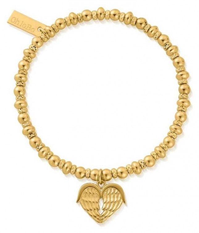 ChloBo Didi Sparkle Heavenly Heart Bracelet   18ct Gold Plated GBDS1024