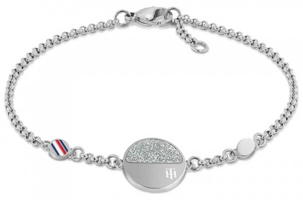 Tommy Hilfiger Women's Dressed Up   Stainless Steel Circle Bracelet 2780460