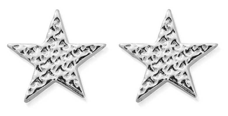 ChloBo Sparkle Star Stud Earrings   Sterling Silver SEST3077