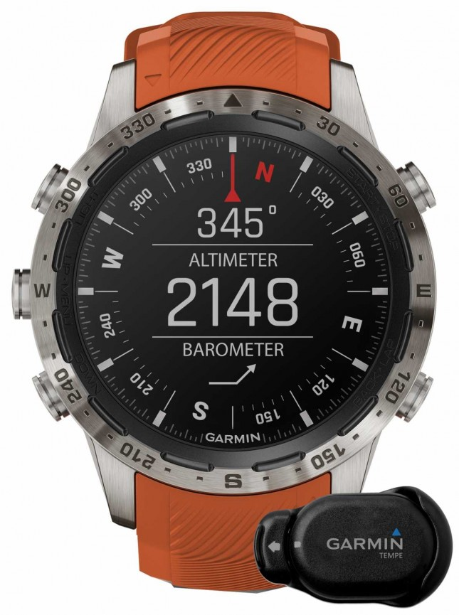 Garmin MARQ Adventurer Performance Edition | Orange Rubber and Black Rubber Strap 010-02567-31