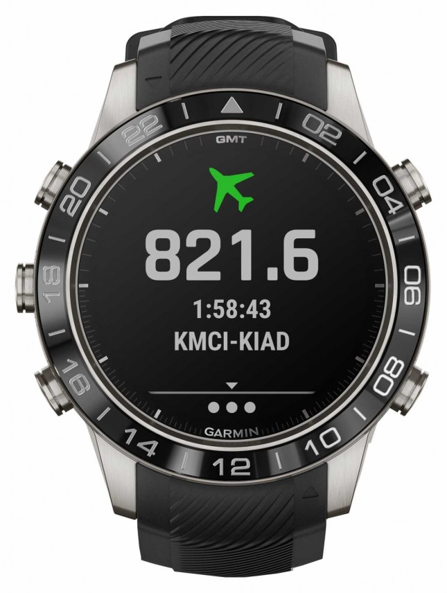 Garmin MARQ Aviator Performance Edition | Black Rubber Strap 010-02567-11