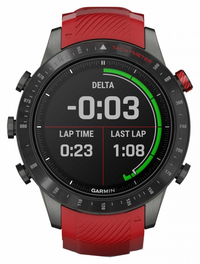 Garmin MARQ Driver Performance Edition | Red Silicone Strap 010-02567-01