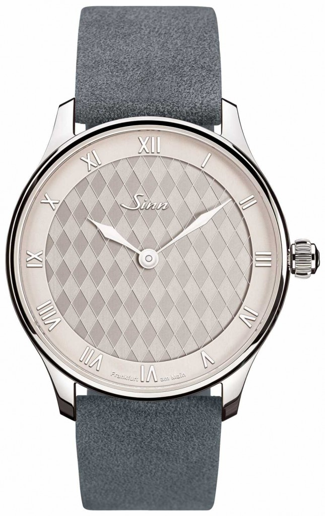 Sinn 1739 Heimat   Grey Leather Strap   Silver/White Dial 1739.010