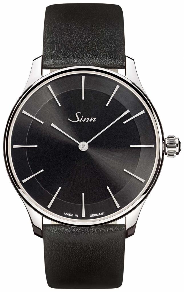Sinn 1739 St I S   Black Leather Strap   Black Dial 1739.012