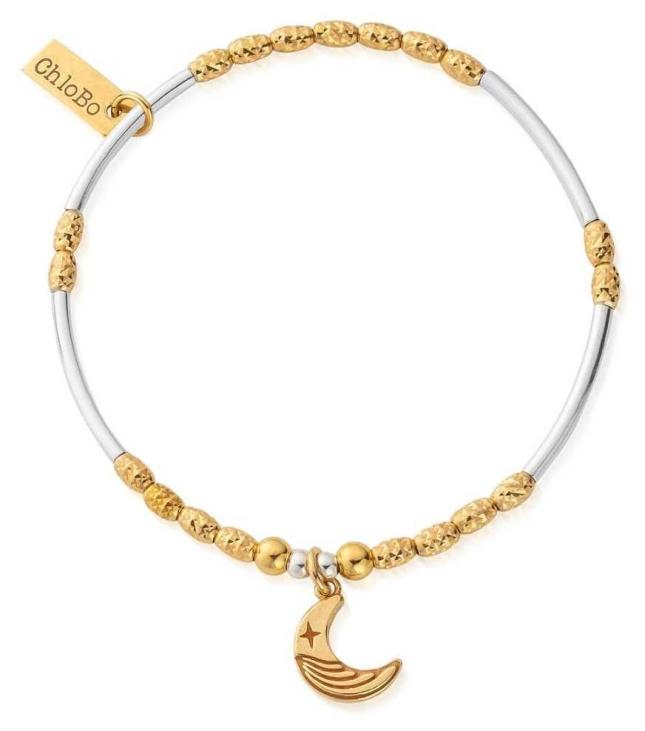 ChloBo Gold&Silver Luna Moon Bracelet GMBMNSR4019