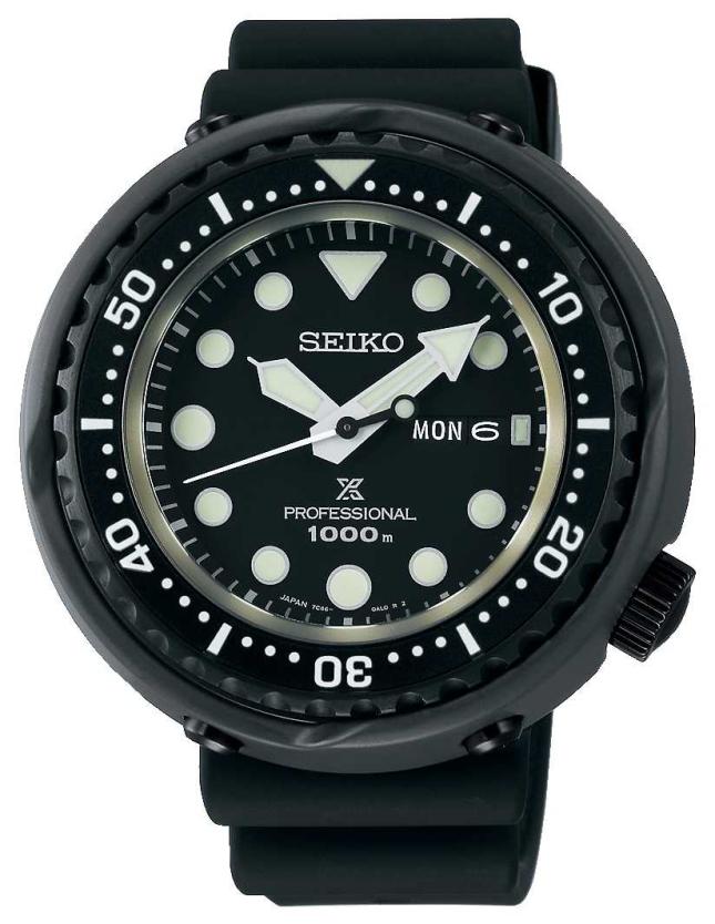 Seiko Men's Prospex Tuna Divers | Black Silicone Strap | Titanium S23631J1