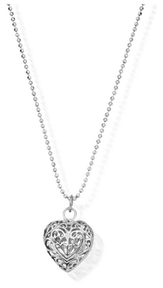 ChloBo Diamond Cut Chain   With Filigree Heart   Pendant   Approx 65 cm SCDC1050