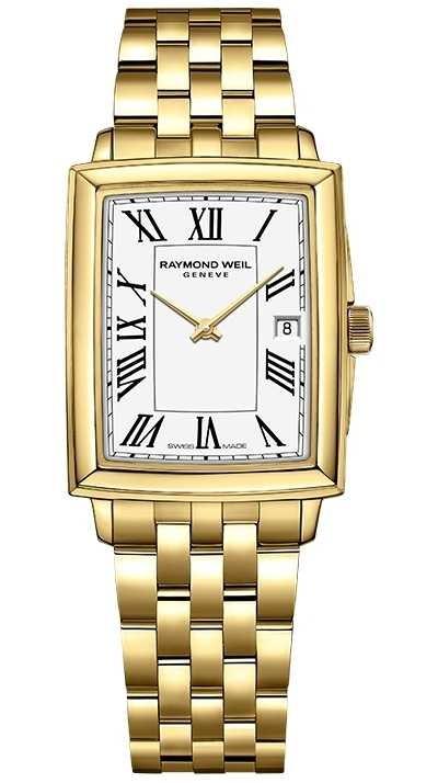 Raymond Weil Women's Toccata   Yellow Gold PVD Bracelet   White Dial   5925-P-00300