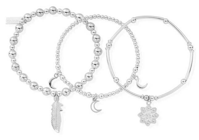 ChloBo Namaste Set Of 3   Bracelets SBSTA3N