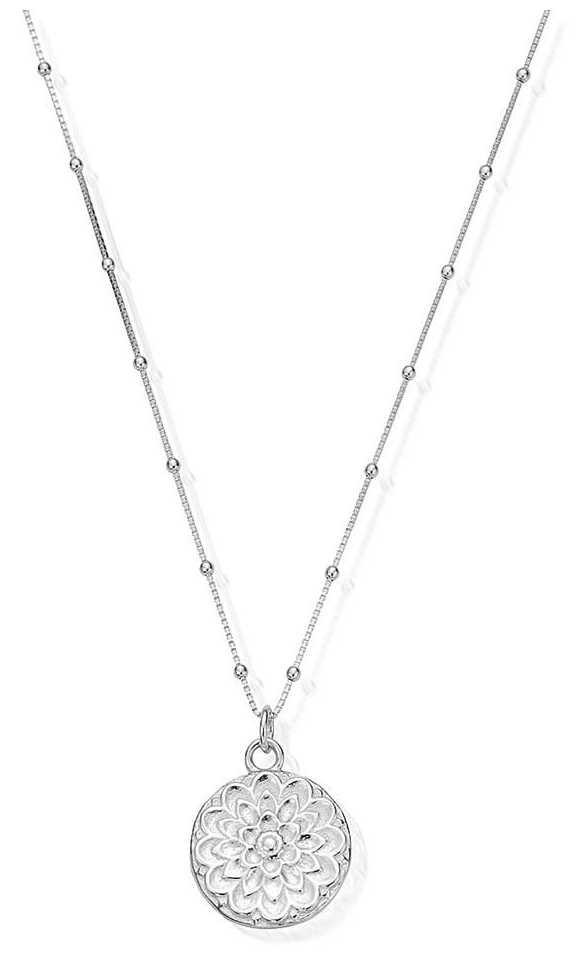 ChloBo   Womens   Silver Moon Flower   Chain Necklace   SNBB721