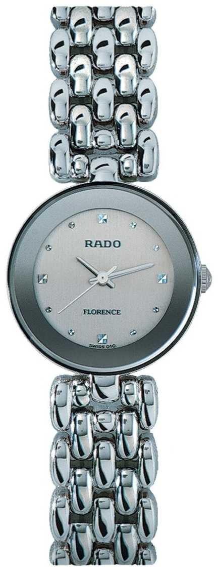 RADO Florence Ladies Quartz Stainless Steel Bracelet Silver Dial R48744103