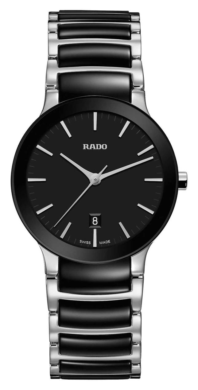 RADO Centrix S Ladies Quartz Black Dial  Black And Stainless steel Bracelet R30935172
