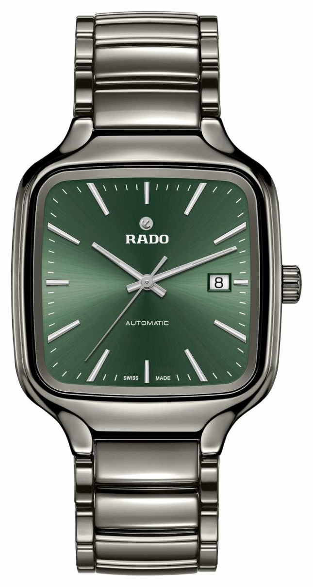 RADO True Square L Mens Automatic Green Dial Ceramic R27077312