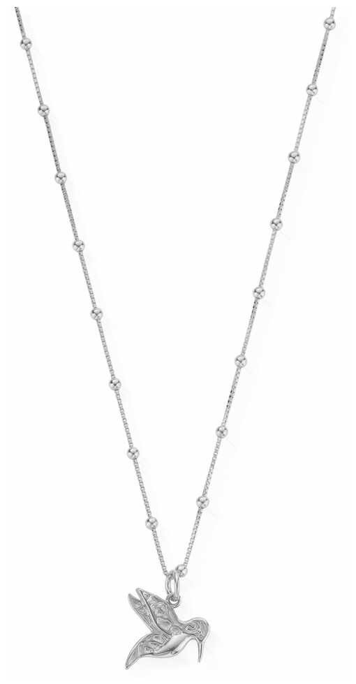 ChloBo   Womens   Silver Humming Bird   Chain Necklace   SNBB670