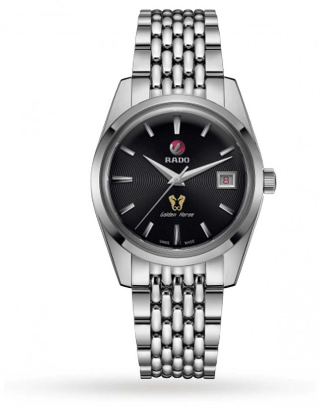 RADO Mens Golden Horse 1957 Automatic Limited Edition Stainless Steel Black Dial R33930153