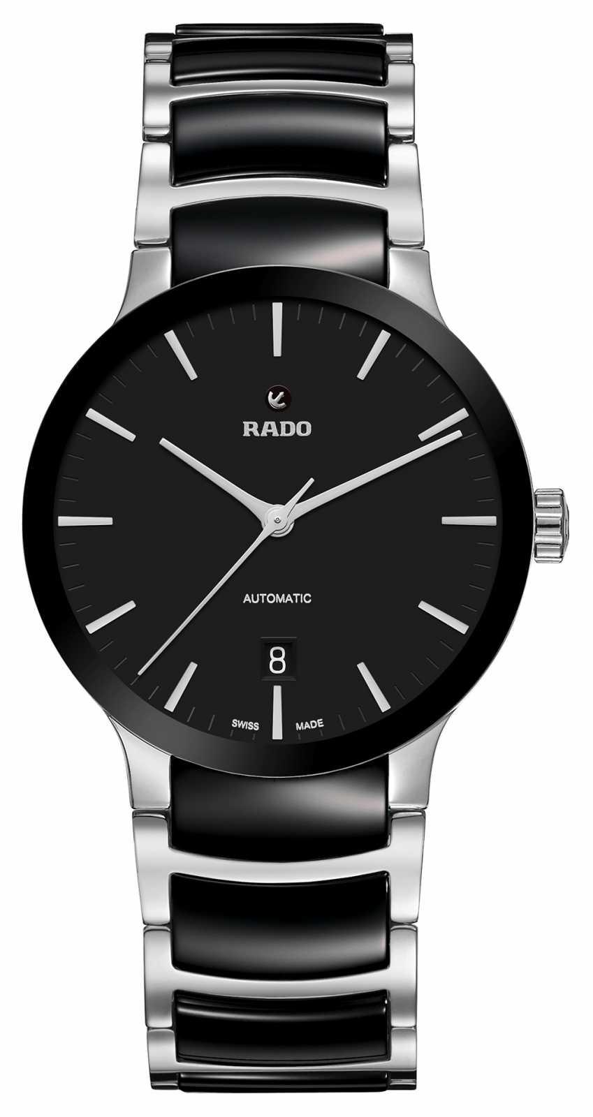 RADO Mens Centrix Automatic Black Stainless Steel Ceramic Bracelet Black Dial R30941172