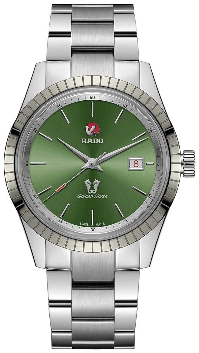 RADO Golden Horse Automatic Mens Green Dial Stainless Steel Bracelet R33101314