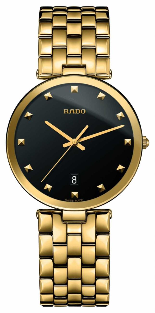RADO Florence Ladies Quartz Gold PVD Plated Black Dial R48868163