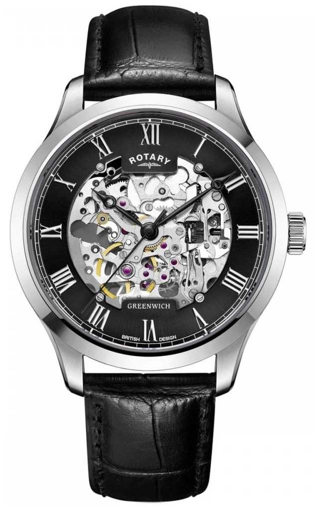 Rotary Mens   Skeleton   Greenwich  Automatic Watch GS02940/30